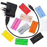 Cablebug2 (small) Pack of 40 Clip-On Multi Coloured Cable Labels. Fits Cables from 2mm to 5mm