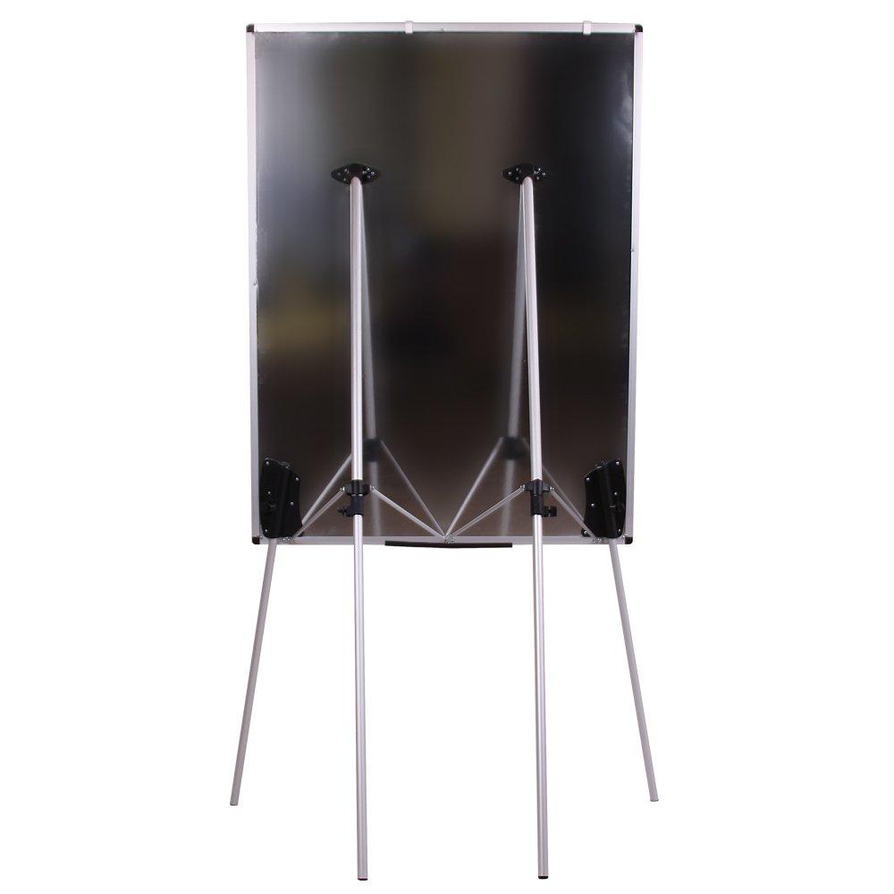 """VIZ-PRO Light Magnetic Four Legs Stand Whiteboard/Flipchart Easel,36"""" W x 48"""" L"""