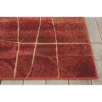 Nourison Somerset (ST74) Flame Rectangle Area Rug, 7-Feet 9-Inches by 10-Feet 10-Inches (79
