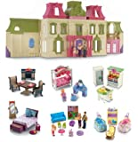 Fisher Price Loving Family Dream Mega Set Dollhouse w/ Dolls & Furniture