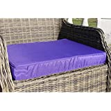 Garden Furniture Cushion- Armchair Seat Pad for Large Garden Chair in Purple