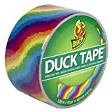 Duck Brand 281496 Rainbow Printed Duct Tape (Single Roll), 1.88-Inch by 10 Yards