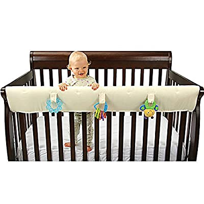 Leachco Organicsmart Easy Teether XL Convertible Crib Teething Rail Cover - Ivory from Leachco, Inc.