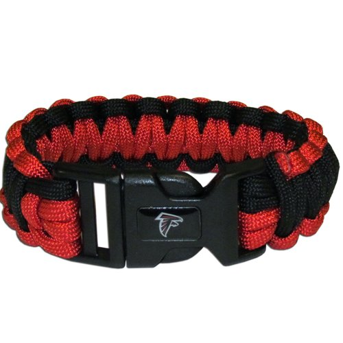 Atlanta Falcons Nfl Survival Paracord Bracelet Large Authentic Football Team front-1031285