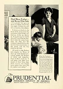 1925 Ad Prudential Insurance America Newark Edward Duffield Donald Gardner Child - Original Print Ad
