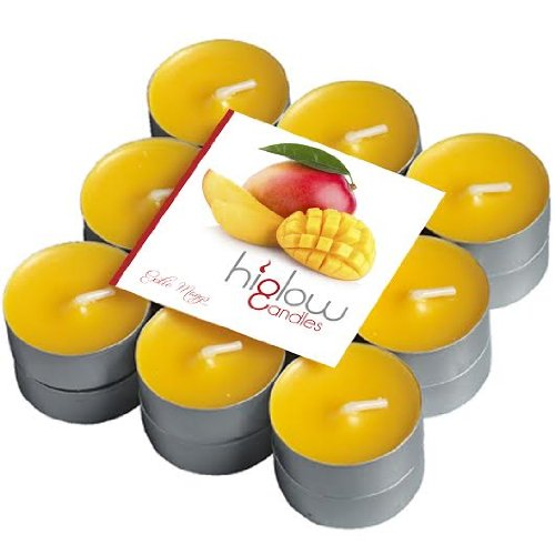 Scented Tea Lights - 18 Pack Exotic Mango - Best Gift Candle - Holiday Tealight Candle