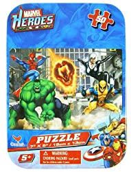 Marvel Super Heroes 50 Piece Jigsaw Puzzle in Travel Tin