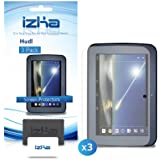 """iZKA® - New Tesco HUDL 7"""" LCD Screen Protector Cover Guard - (Pack of 3) Includes Micro Fibre Cleaning Cloth & Application Card"""