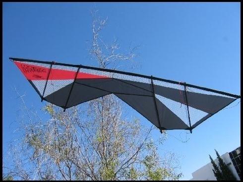 Revolution, Supersonic, Lenkdrachen 4-Leiner rot, mylar, schwarz