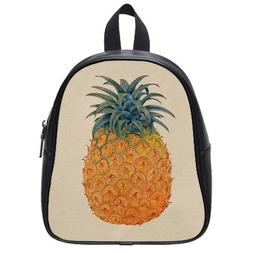 Anhome Print Nature Orange Pineapple Looks Delicious Custom School Bag/Backpack front-1079861