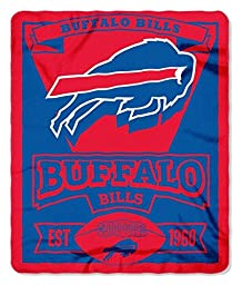 NFL Buffalo Bills Marque Printed Fleece Throw, 50-inch by 60-inch