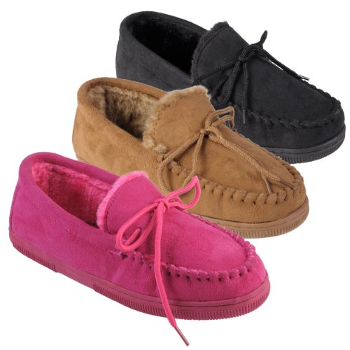Image of Journee Collection Womens Faux Suede Moccasin Slippers (B009G4434K)
