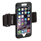 TuneBand for iPhone 6 Plus, Premium Sports Armband with Two Straps and Two Screen Protectors (BLACK)