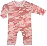 Pink Camo Infant Baby Girls Child Long Sleeve One Piece Jumper Jump Suit Bodysuit Creeper Clothes Outfit Uniform Costume Pajamas SIZE 3 to 6 MONTHS