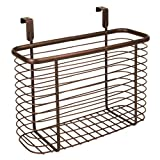 InterDesign Axis Over-the-Cabinet X5 Basket, Bronze