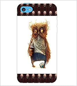 PrintDhaba Funny Owl D-4503 Back Case Cover for APPLE IPHONE 5C (Multi-Coloured)