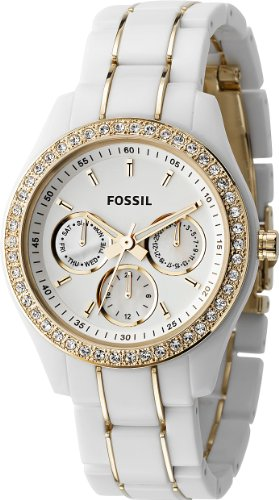 Fossil Stella White & Gold Multifunction Watch