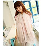 SKY High Quality Porcelain Style Pink Thin Section the Silk Floss Women Scarf Shawl
