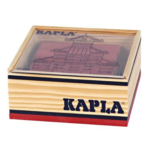 KAPLA 6505 Holzplättchen, 40 Steine, rot