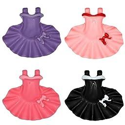 DIY Jewelry: 4x Mini Tutu Ballet Dress Resin Cabochons - Assorted Colors