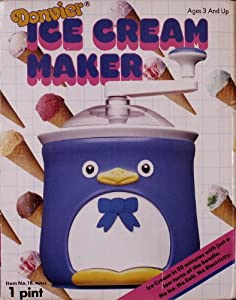 Donvier Chilly Penguin 1 Pint Ice Cream Maker Pink Trim