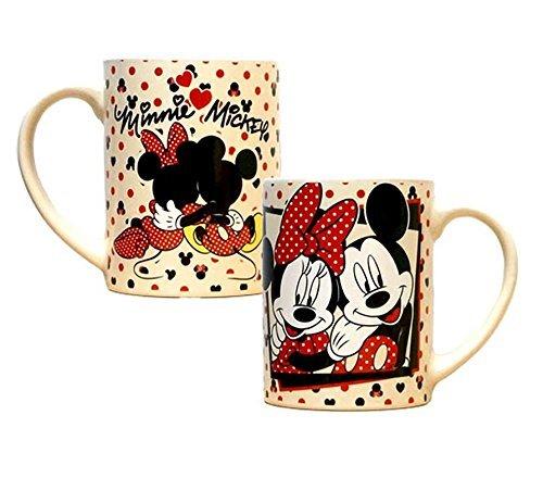 Disney Mickey Mouse and Minnie Mouse Cuddle Ceramic Jumbo Coffee Mug 14fl. Oz. (Avengers Coffee Mug Set compare prices)