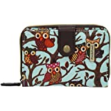 SwankySwans Classic Tree Owl Small Wallet in Light blue