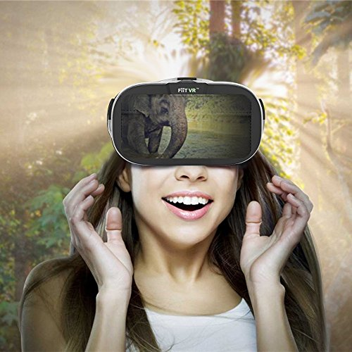 Fiit VR Headset 3D Glasses Virtual Reality for iphone 6/6s Plus Samsung Galaxy and All 4.0~6.0 inches Smartphones