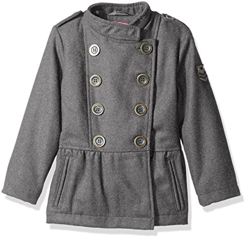 Pink Platinum Little Girls' Military Wool Coat, Grey, 5/6 (5t Girls Rain Jacket compare prices)