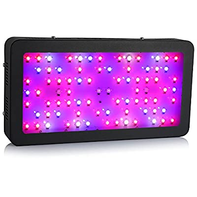 Ledgle 80x5W LED Grow Light Veg/Flowering Full Spectrum with UV and IR for Hydroponic Indoor Greenhouse Garden Plant Growing