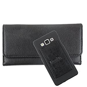 DooDa PU Leather Wallet Flip Case Cover With Card & ID Slots For Spice Stellar 517 - Back Cover Not Included Peel And Paste