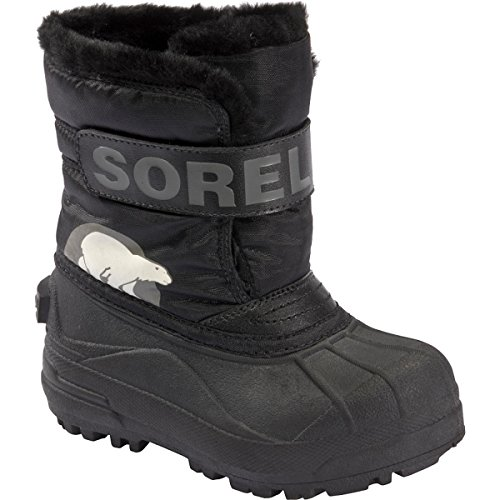 Sorel Snow Commander Childrens Winter Boot,Black/Charcoal,8 M US Toddler