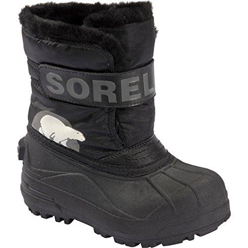Sorel Snow Commander Childrens Winter Boot,Black/Charcoal,8 M US Toddler