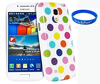 Silicone Softcase vintage strass Case Etui Coque étui de portefeuille protection Coque Case Cas Pour Samsung Galaxy S4 i9500 i9505 Blanc et couleur