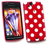 Flash Superstore Sony Ericsson Xperia Arc X12 / Xperia Arc S Polka Dots Gel Skin Cover/Case Red