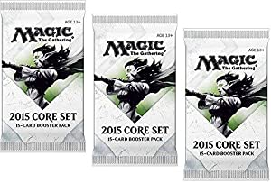 3 (Three) Packs of Magic: the Gathering - MTG: 2015 Core Set / M15 Booster Pack Lot (3 Packs)
