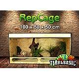 TerraBasic RepCage 100x50x50, aération latérale et traverse en verre