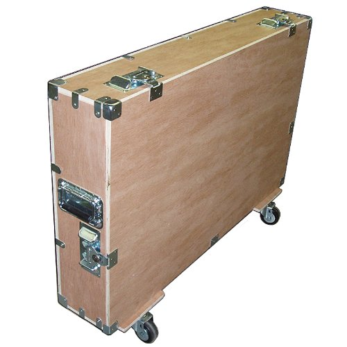 """Crate Style Bare Boards 37""""- 42"""" Plasma Lcd Led 1/2"""" Plywood Case Kit W/Wheels - Unfinished Inside & Out"""