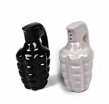 Bocal à épices condiment Grenade Flacon bouteille en céramique Herb Poivre et Sel Bouteille Set