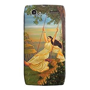 ColourCrust Motorola RAZR V XT885 Mobile Phone Back Cover With Meera Mythological Art - Durable Matte Finish Hard Plastic Slim Case