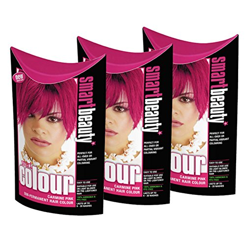 smart-farbe-semi-permanenten-carmine-pink-hair-dye-x-3
