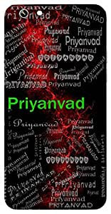 Priyanvad (Sweet Talking Person) Name & Sign Printed All over customize & Personalized!! Protective back cover for your Smart Phone : Samsung Galaxy Note-5
