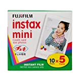 Fujifilm Instax Mini Instant Film, 10 Sheets (5-Pack)