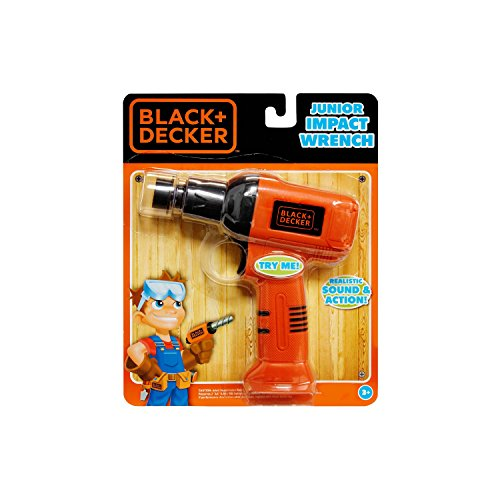 Black & Decker Jr. Electronic Tool, Junior Impact Wrench, Realistic Light Sound & Action (Black And Decker Kids Tool Belt compare prices)