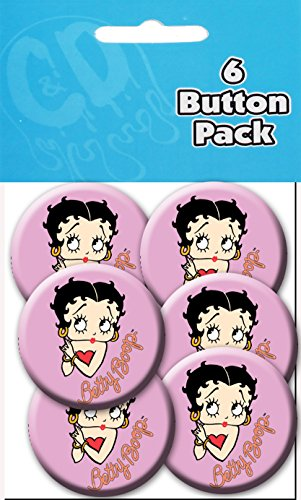 "C&D Visionary Betty Boop - Close Up 1 1/2"" Button (6-Piece)"
