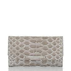 Soft Checkbook Wallet<br>Silver Pamilla