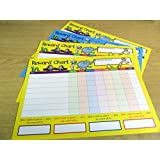 Children's, Kids' Reward Charts - WITH FREE EXTRA STICKERS FROM MINILABEL - to Praise & Reward Good Behaviour