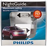 Philips H7 NightGuide Headlight Bulb, Pack of 2