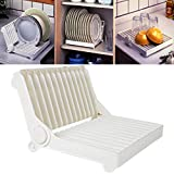 "1 Pc ""HOKIPO"" Brand Folding Plastic Kitchen Dish Rack Stand Plate Holder"