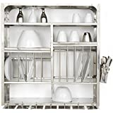 Dish Dryer Display Rack Stainless Steel - Wall Hanging (76x24x76 Cm)